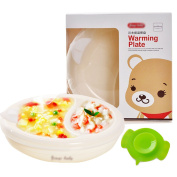 LABANCA Baby Toddler Feeding Plate Water Insulation Dish Bowl