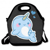 Xiisxin Kawali Baby Narwhal Lunch Tote Bag - Large & Thick Insulated Tote - Suit For Men Women Kids
