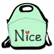 Nice Txt Hearts Vector Graphic Line Art Lunch Tote Bags Baby Bag,Picnic Tote,Insulated Lunch Box Food For Woman For Outdoors,Work, Office, School