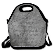 Religious Bible Quote Large & Thick Insulated Tote Lunch Tote Bag Yeti Lunch Bag For Men Women Kids Enjoy You Lunch