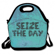 Seize The Day Colouring Book Large & Thick Insulated Tote LunchTote Insulated Lunch Bag For Men Women Kids Art Of Lunch
