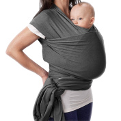 N.C Products Dark Grey Baby Wrap Carrier for Newborns, Infants, & Toddlers, Versatile one size,The perfect baby shower gifts for boys or girls.