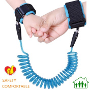 Baby Child Anti Lost Wrist Link Safety Kids Strap Rope Leash Toddlers Walking Hand Belt with Soft Hook and loop By JAFIC secure comfortable padding extend up to 250cm