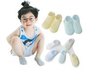 Ewandastore 5 Pairs Ankle Socks Breathable Mesh Thin Cotton Short Socks Pointelle Socks for Toddler Unisex Baby Kids Girls Boys,3-5 Years,Small Rhombus