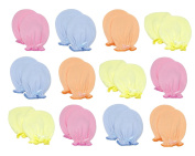 Liwely 12 Pairs Unisex-Baby No Scratch Mittens, 100% Cotton, Solid Colour with Bow