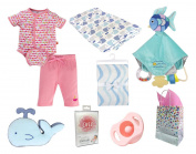 """""""Under the Sea"""" Baby Girl 8 Item Baby Shower Gift Set"""