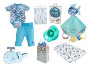 """Under the Sea"" Baby Boy 8 Item Baby Shower Gift Set"