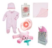 """White Diamonds"" Baby Girl 6 Item Baby Shower Gift Set"