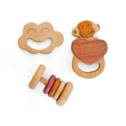 SP soli Wooden toys Hajime Other baby toys Rattle teethers set Cloth bag