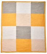 Arus Baby Turkish Cotton Blend Blanket Butterscotch Patchwork 80cm x 100cm