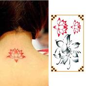 Oottati Small Cute Temporary Tattoo Lotus Lotus Flower