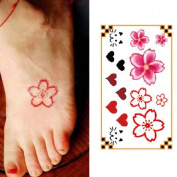 Oottati Small Cute Temporary Tattoo Flowers Heart Cat Finger