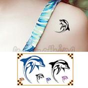 Oottati Small Cute Temporary Tattoo Dolphin Arm