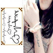 Oottati Small Cute Temporary Tattoo Love Heartbeat