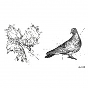 WYUEN 5 Sheets Waterproof Eagle Temporary Tattoo Dove Fake Tattoo Sticker For Women Men Hand Body Art 9.8X6cm