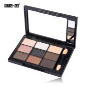 Toraway 9 Colour Cosmetic Matte Eyeshadow Cream Makeup Palette Shimmer Set +Brush Set