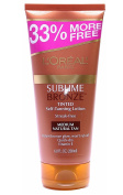 Loreal Sublime Bronze Tinted Self-Tanning Lotion Medium Natural Tan 150ml + FREE Schick Slim Twin ST for Dry Skin