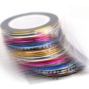 Nizi Jewellery Rolls Striping Tape Line Nail Art Sticker Tools Foil Tips Tape Line DIY Design Decorations for Nail Accessories Stickers L7 LASER PINK 100PCS