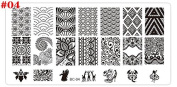 Nizi Jewellery 6x12mm Rectangle Nail Stamping Plate Nail Art Stamping Image Plate Cute Design Nail Stamp Template 21 Patterns For BC04