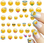 ALLYDREW 250+ Emoji Water Transfer Nail Decals 3D Nail Art Nail Decals