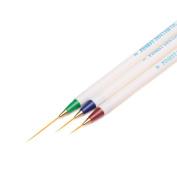 Iuhan 3PCS/Set Dotting Pen Tool Nail Art Design Dotting Painting Drawing Brush Manicure kit