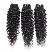 Fumigirl 3 Bundles Brazilian Virgin Hair Deep Wave Hair Extensions 7a Grade Unprocessed Human Hair Wave Natural Colour Can Be Dyed and Bleached