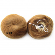 YEWIG Straight Synthetic Hair Bun Updo Donut Chignon Hairpieces Wig Scrunchie Extensions 27#