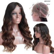 FOND 360 Loose Wave Lace Wigs with Baby Hair for Women Brazilian Virgin Human Hair Ombre Colour