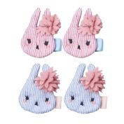 Baby Girls Bunny Rabbit Hair Clip Cartoon Rabbit Hair Clip with Flower Toddler Christmas Gift