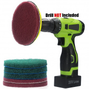 Kichwit 13cm Drill Power Scrubber Scouring Pads Cleaning Kit