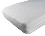 "CozyCuddles WATERPROOF Crib Mattress Protector - ANTI BEDBUGS Zipper Encasement Baby/Toddler Crib Mattress Cover (130cm Lx 28""Wx 6""H) - Pillow Case Included"