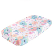 """Premium Cotton Nappy Changing Pad Cover """"Bloom Floral"""" by Copper Pearl"""