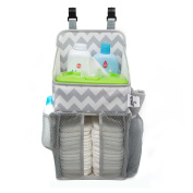 Playard Nappy Caddy and Nursery Organiser for Newborn Baby Essentials, Accessory Organiser by California Home Goods