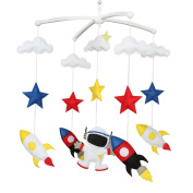 Colourful Room Decor Toy, Baby Toy, Musical Mobile, Baby Gift [Space Flight]