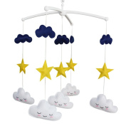 Crib Mobile, Handmade Colourful Toy, Cute and Creative Gift [Stars and Clouds]