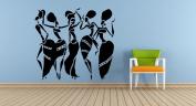 Wall Vinyl Sticker Decals Mural Room Design Pattern Art Decor African Woman Girl Africa Dance Style Pitcher Vase mi1046