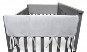 American Baby Company 2 Piece Heavenly Soft Chenille Reversible Rail Covers for Crib Sides, Grey/White