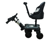 Englacha 2-in-1 Cosy 4-Wheel Rider, Black