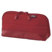 LIHIT LAB. Smart Fit Pen Case (Pencil Case), Red, 20cm x 10cm ,