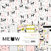My Mind's Eye MYMMEW111 Meow Paper and Accessory Kit
