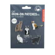 Kikkerland Cat Patch Iron Set of 5