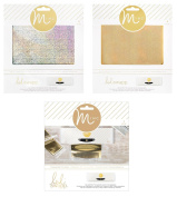 Heidi Swapp - Mini Minc - Transfer Folders & Holographic Gold and Silver Reactive Foil Sheets