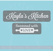 Vinyl Sticker Decal Stencil for Etching Glass Casserole Dished, Personalised Gift Idea