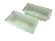 Crafters Choice Regular 1501 Silicone Loaf Soap Mould 2 Pack