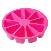 10 Triangle Cavity Silicone Cake Mould Round Flexible DIY Handmade Soap Mould for Pizza Slices Pan