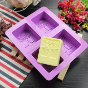 4-Tree Oblong Cake candy Soap Mould Silicone Mould For Cookie Fimo Resin Craft