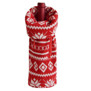 Gireshome Red Snowflake Wine Bottle Cover Bag for Table Decorations Gift Bag Christmas Wine Bottle Bag Christmas Hostess Decoration Wine Bottle Cover Christmas Gift
