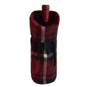 Gireshome Plaid Wine Bottle Cover Bag for Table Decorations Gift Bag Christmas Wine Bottle Bag Christmas Hostess Decoration Wine Bottle Cover Christmas Gift
