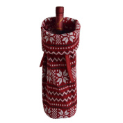 Gireshome Burgundy Snowflake Wine Bottle Cover Bag for Table Decorations Gift Bag Christmas Wine Bottle Bag Christmas Hostess Decoration Wine Bottle Cover Christmas Gift