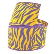 Homeford Zebra Print Polyester Wired Ribbon, 6.4cm , 10 Yards